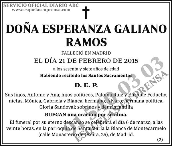 Esperanza Galiano Ramos
